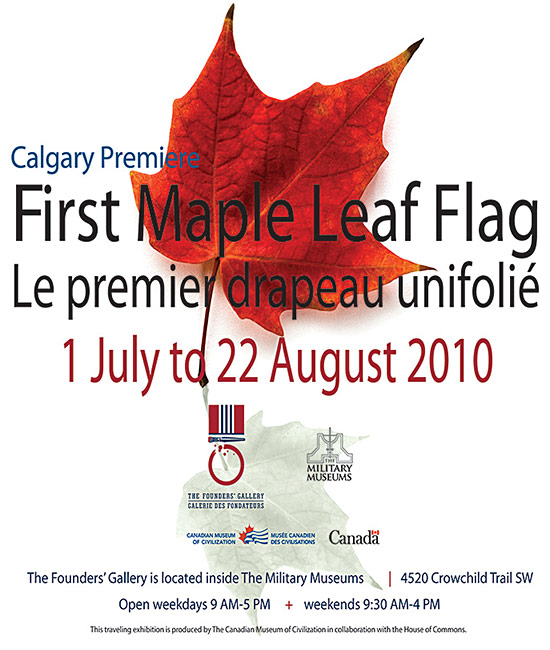 First Maple Leaf Flag